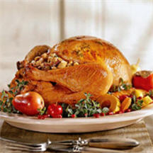 Herb Butter Roasted Turkey with Bourbon Buttered Apple Slices Recipe ...