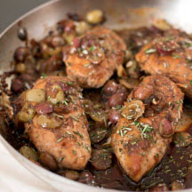 Honey-Balsamic Chicken with California Grapes