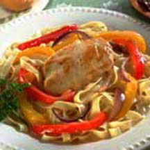 Honey Dijon Fettuccine and Chicken