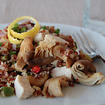 Mushroom and Chicken Quinoa with Chiles