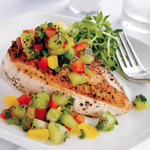 Pan-Roasted Chicken Breast with Kiwifruit Relish