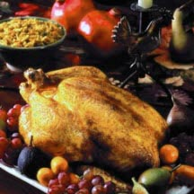 Roast Chicken with Spiced Mushroom and Winter Vegetables