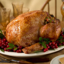 Roast Turkey with Cranberry Orange Glaze
