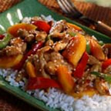Sautéed Chicken with Papaya in Sweet Chili Sauce