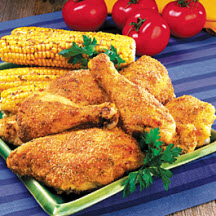 Spicy Chicken and Corn on the Cob