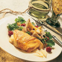 Stuffed Roast Chicken with Asiago, Fennel, Prosciutto and Cherries