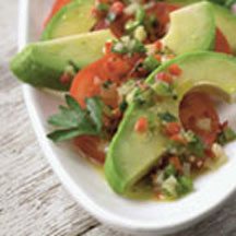 Avocado and Tomato Salad with Confetti Vinaigrette
