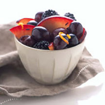 Black Fruits in Lavendar Honey Glaze