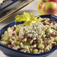 Brown Rice Salad with Apples, Raisins and Blue Cheese