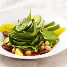 Chickpea-Spinach Salad with Avocados and Oranges