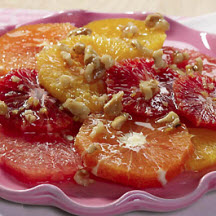 Citrus Salad with Honey Walnut Ginger Syrup