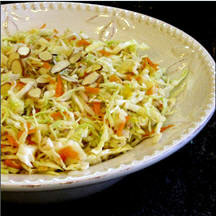 Coleslaw with Toasted Almonds