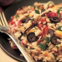 Grilled Orzo Salad