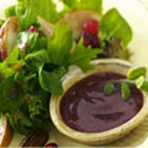 Mixed Green Salad with Cranberry Pear Salad Dressing Recipe at ...