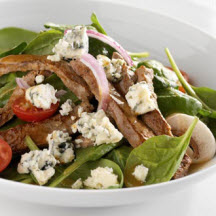 Mustard-Crusted Steak Salad with Blue Cheese