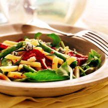 Penne Salad with Italian Green Beans with Gorgonzola