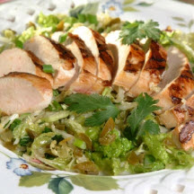 Spicy Asian Coleslaw with Grilled Chicken