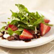 Strawberry & Arugula Salad with Cocoa-Spiced Pecans