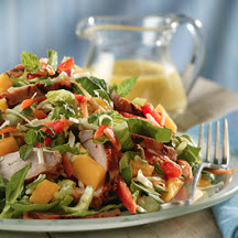 Thai Pork and Mango Salad with Mango-Mint Dressing
