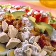 Turkey Cobb Salad with Blue Cheese Buttermilk Dressing