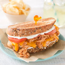 Applewood Honey Chicken Ultimate Grilled Cheese Sandwiches