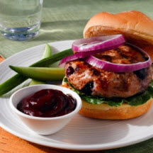 Blueberry Turkey Burgers with Blueberry Ketchup