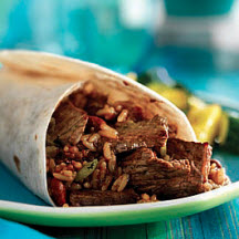 Cajun Beef and Bean Burritos