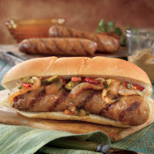 Grilled Brats with Onion Relish