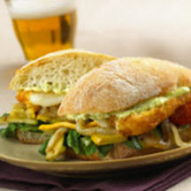 Grilled Italian-Cheese-Vegetable Sandwich