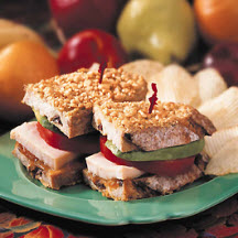 Peanut Crusted Touchdown Turkey Sandwich