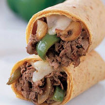 Philly Mushroom Cheese Steak Wrap At Cooksrecipes Com