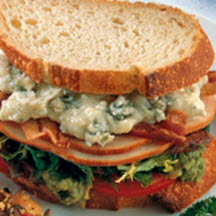 Smoked Turkey Cobb Sandwich with Blue Cheese Mayonnaise