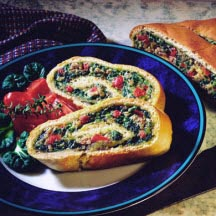 Spinach-Stuffed Stromboli