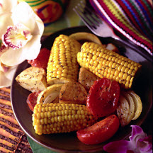 Caribbean Sweet Corn and Vegetable Bake