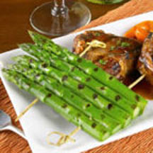 Grilled Rack of Asparagus.