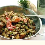 Maine Lobster and Peasant Bread Stuffing
