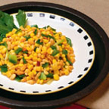 Pine Nuts and Corn Stir-Fry