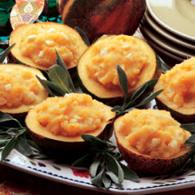 Potatoes and Parsnips in Acorn Squash Bowls