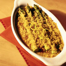 Spring Asparagus And Asiago Gratin Recipe — Dishmaps