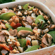 Turkey Sausage and Wild Rice Dressing
