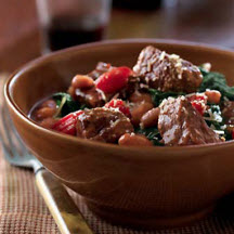 Beef, Bean and Spinach Ragoût