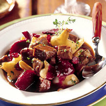 Beef Stew with Cranberries and Roasted Root Vegetables