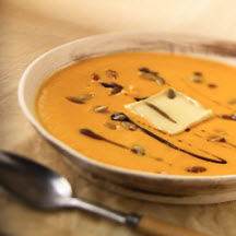 Calabaza Soup with Limburger Cheese