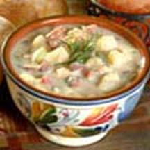 Cauliflower, Potato and Ham Chowder