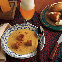 Cheddar, Swiss and Beer Soup Recipe at CooksRecipes.com