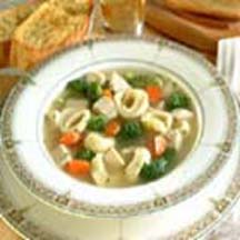 Chicken and Broccoli Soup with Cheese Tortellini