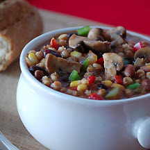 Mexican Mushroom Chili with Beans and Barley