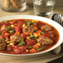Mini Meatball and Vegetable Soup