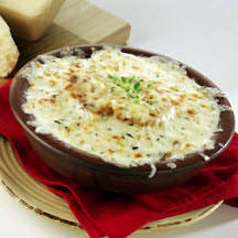Onion Soup with Two Cheeses