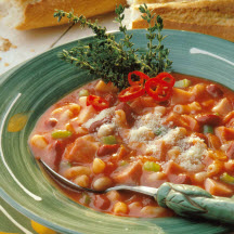 Smoky Pasta and Bean Soup